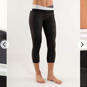 lululemon athletica Pants - Lulu Astro Wunder Under Crop denim workout gym